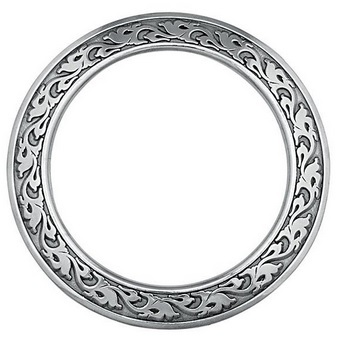 04185-SS-2-3/4 Jeremiah Watt Accented Floral Breast Collar Ring 2-3/4 (ca. 70 mm)